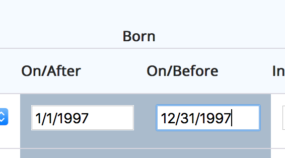 Born On/After